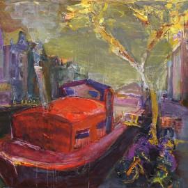 Червоний кораблик в Амстердамі
